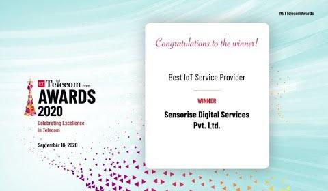 ET Telecom Award 2020 - Best IoT Service Provider - Sensorise